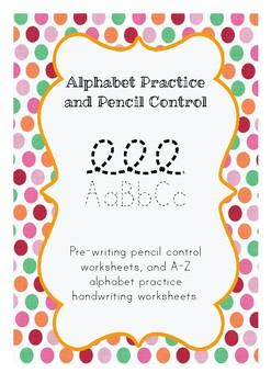 Alphabet Practice and Pencil Control