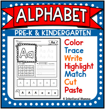 Alphabet Practice and Recognition Pack