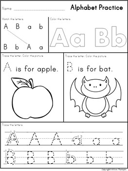 Alphabet Practice and Review ~ Letters and Sounds