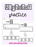 Alphabet Practice - capital and lowercase letter practice - special education