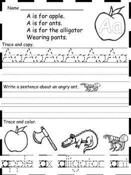 Alphabet Practice in Kindergarten