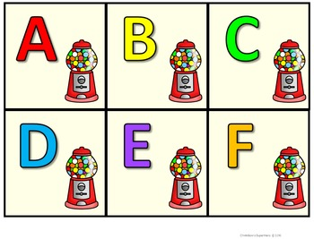 Alphabet Practice: letter matching find and color