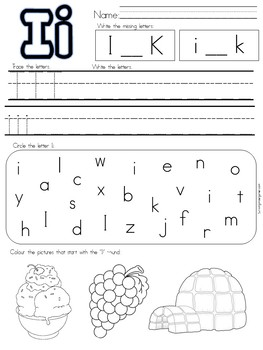 Alphabet Practise Pages