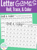 Alphabet Preschool Kindergarten: Roll, Trace, & Color Games