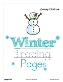 Winter Tracing Pages