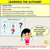 Alphabet: Presentation, Lesson Plan, Flash cards, Gap filling, Activities