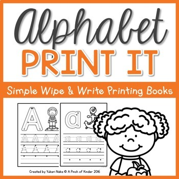 Alphabet Print It: Simple Wipe & Write Printing Books