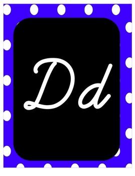 Alphabet Print and Cursive Poster Set