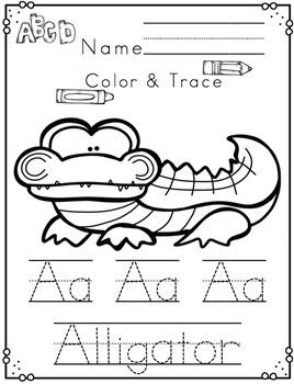 """Alphabet Printable A-Z Animals """"No Prep"""""""