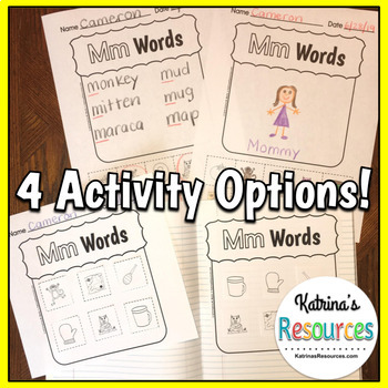 Alphabet Printable Activity Pages for Identifying Beginning Sounds