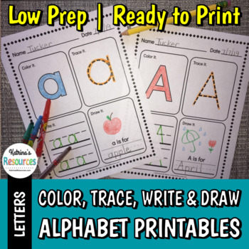 Alphabet Printable Activity Pages for Practicing Letter Formation