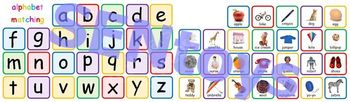Alphabet Printable File Folder Game PDF - Matching Pictures Letters