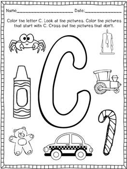Alphabet Printable Practice Pages