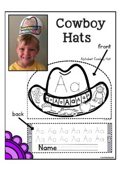 Alphabet Writing Hat for Letter of the Week