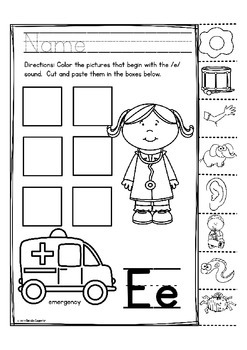 "Alphabet Letter of the Week ""Matching Pictures to Letter Sound"""