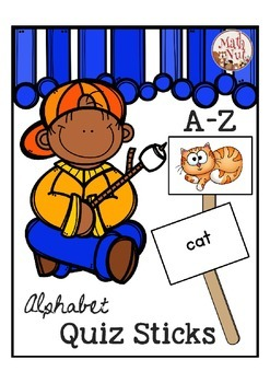"Alphabet Quiz Sticks ""Reading Words with Letter Sounds"" (Letter of the Week)"