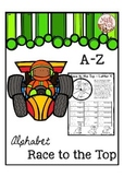 """Alphabet Race to the Top """"Alphabet Writing Game"""" (Alphabet Letter of the Week)"""