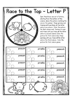 "Alphabet Race to the Top ""Alphabet Writing Game"" (Alphabet Letter of the Week)"
