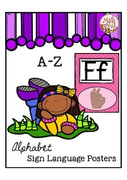 "Alphabet Posters ""Sign Language Alphabet"""