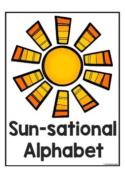 "Alphabet Sun-Sational ""Letter Recognition Activity"" (Alphabet Letter of the Week"