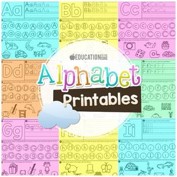 Alphabet Printables Alphabet Activities Alphabet Worksheets Tpt