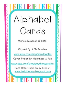 Alphabet Printables (Alphabet Line, Flash Cards, and Name Tags)