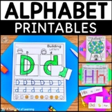 Alphabet Printables No Prep BUNDLE