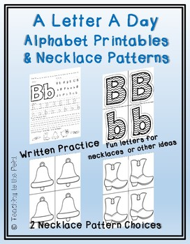 Alphabet Printables and Necklace Patterns