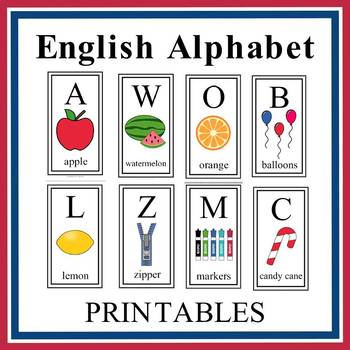 English Alphabet Letter Printables