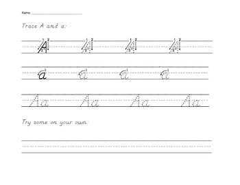 Alphabet Printing Book {D'Nealian Style}