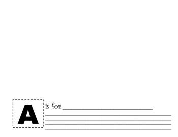 Alphabet Printing Booklet