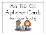 Alphabet Printing Practice - Cards for Finger Tracing