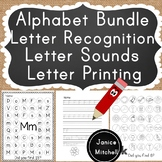 Alphabet Printing, Letter Sounds and Letter Recognition Bundle