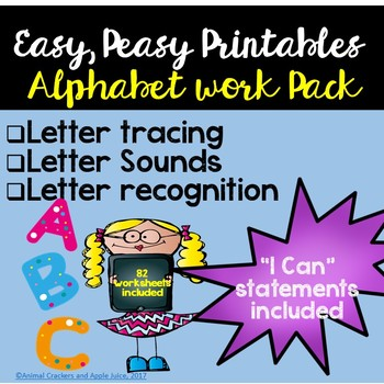 Alphabet Morning Work Pack: Alphabet Recognition and Letter Sounds