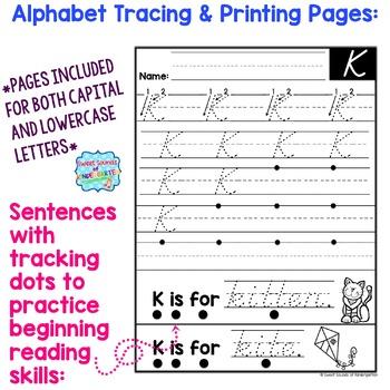 Alphabet Printing Practice {D'Nealian}