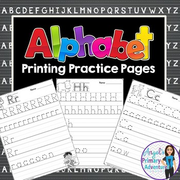 Alphabet Printing Practice Pages