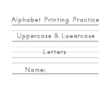 Alphabet Printing Practice - Uppercase & Lowercase Letters
