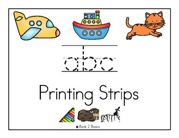 Alphabet Printing Practice - Strips for White Board Markers
