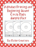 Alphabet Printing and Beginning Sound Circle Map Sample Pack