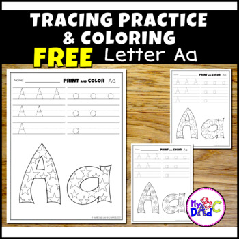 Alphabet Printing and Pattern Coloring Worksheets BUNDLE