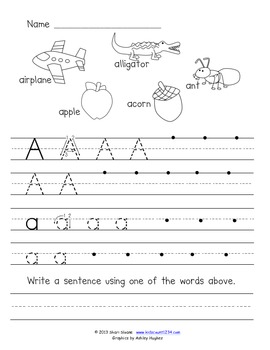 Alphabet Printing and Sentence Writing