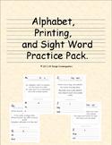 Alphabet, Printing and Sight Word Practice Set