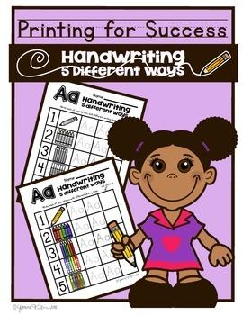 Alphabet Handwriting Practice! Handwriting 5 Different Ways!! Free