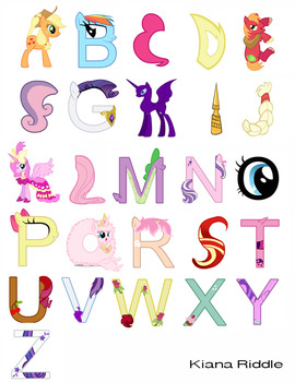 Alphabet Project in Photoshop