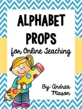 Alphabet Props for Online Teaching (VIPKid)