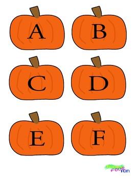 Alphabet Pumpkin Cutouts