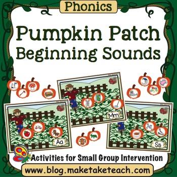 Alphabet - Pumpkin Patch Beginning Sounds