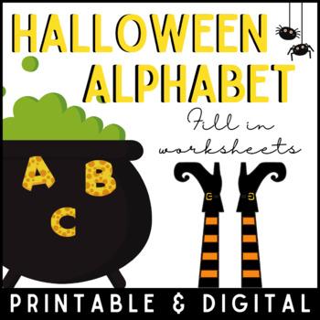 Halloween Alphabet Writing Worksheets