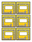 Alphabet Punch Cards - Lowercase, Uppercase, Sounds
