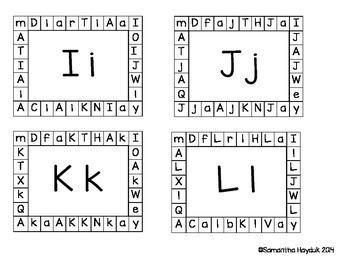 Alphabet Punch Cards {Pre-K & Kindergarten Letter Identification Activity}